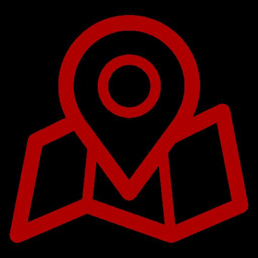 Icônes de localisation de la carte rouge (symbole png)