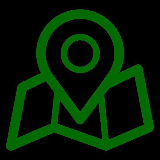 Icônes de localisation de la carte verte (symbole png)