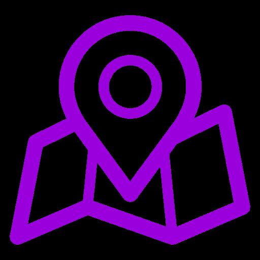 Icônes de localisation de la carte violette (symbole png)