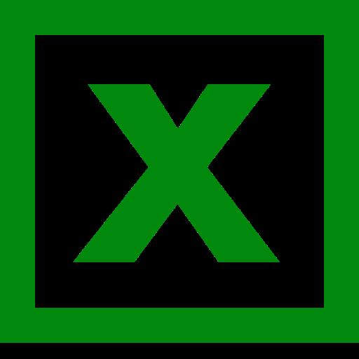 Logo Excel (icône png) vert