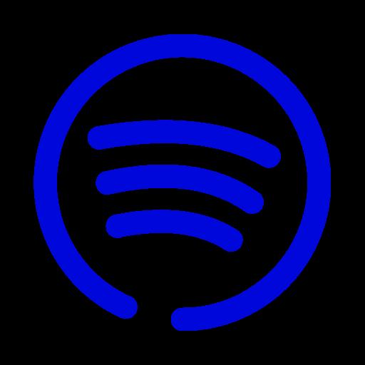Logo Spotify bleu (icône png)