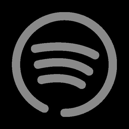 Logo Spotify (icône png) gris