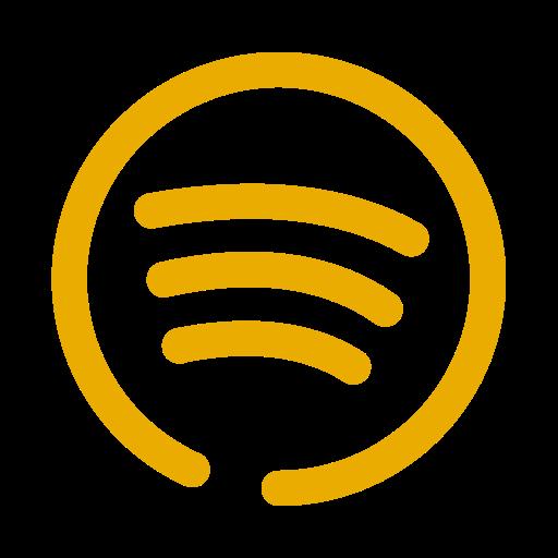 Logo Spotify (icône png) jaune