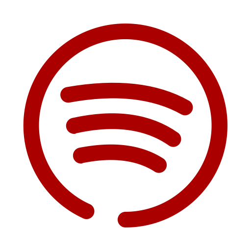 Logo Spotify (icône png) rouge
