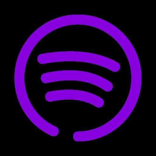 Logo Spotify violet (icône png)