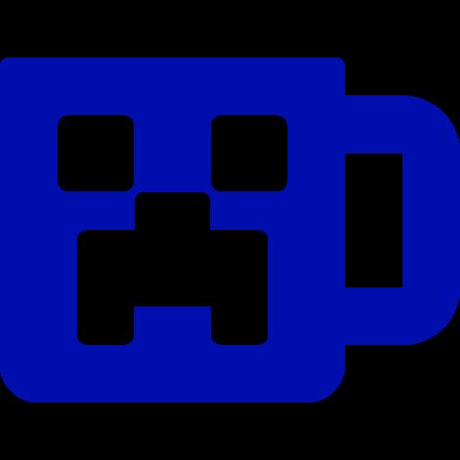 Mug bleu icône Minecraft (symbole Png)