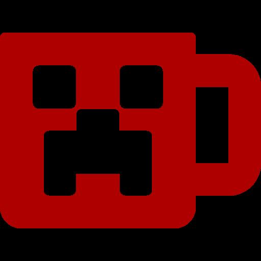 Mug rouge icône Minecraft (symbole png)