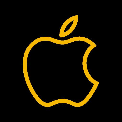 Symbole de pomme (icône du logo) jaune