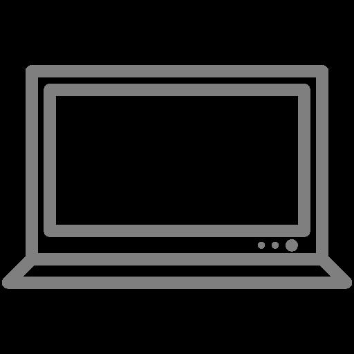 Symbole d'ordinateur (icône png) gris