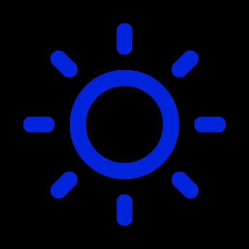 Symbole du soleil bleu (icône png)