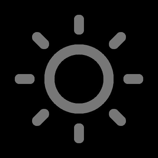 Symbole du soleil gris (icône png)