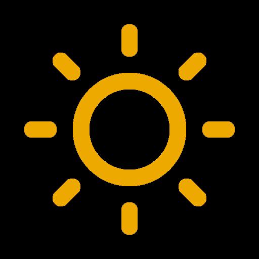 Symbole du soleil jaune (icône png)