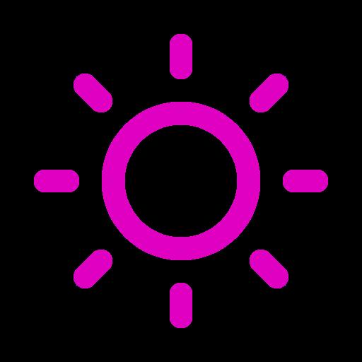 Symbole du soleil rose (icône png)