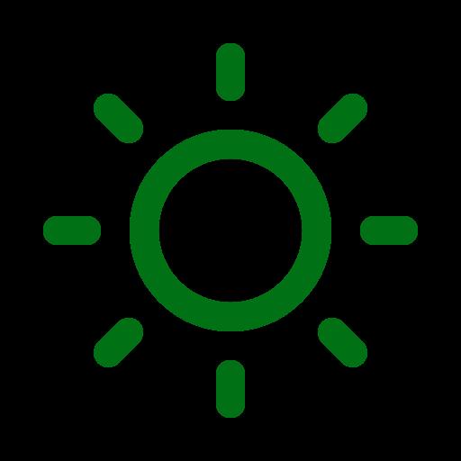 Symbole du soleil vert (icône png)