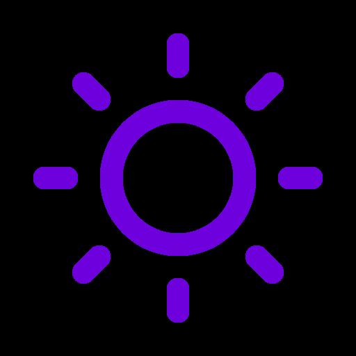 Symbole du soleil violet (icône png)