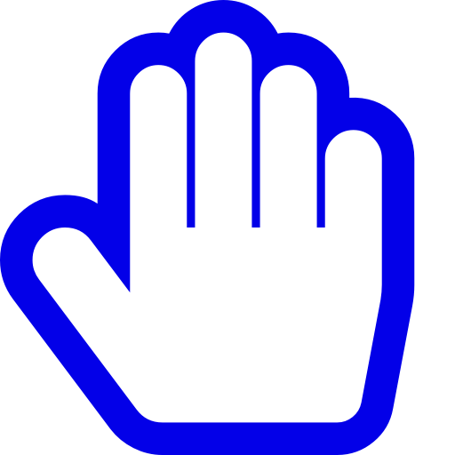 Symbole de la main bleue (icône png)