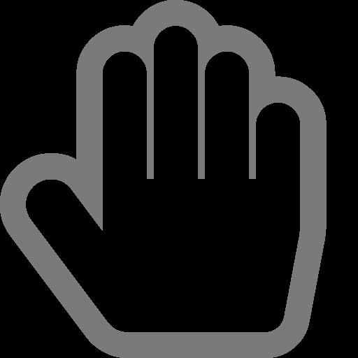 Symbole de la main grise (icône png)