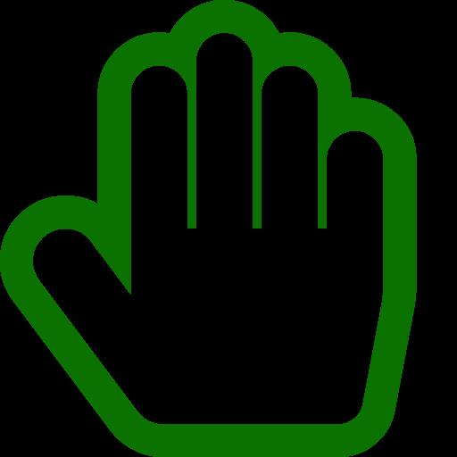 Symbole de la main verte (icône png)