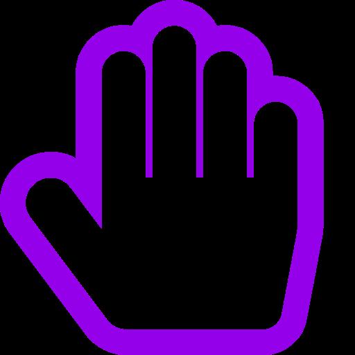 Symbole de la main violette (icône png)