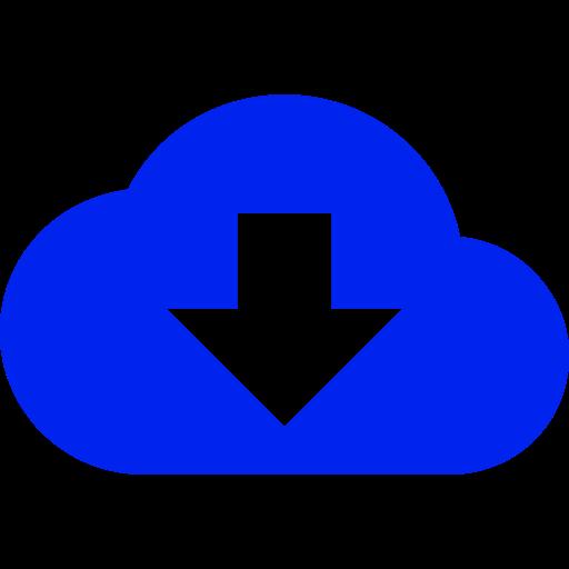 Symbole de nuage bleu (icône png)
