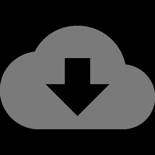 Symbole de nuage gris (icône png)
