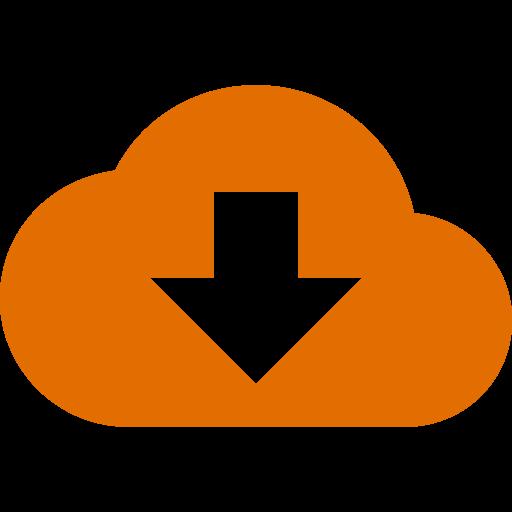 Symbole de nuage orange (icône png)