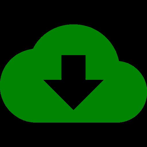 Symbole de nuage (icône png) vert
