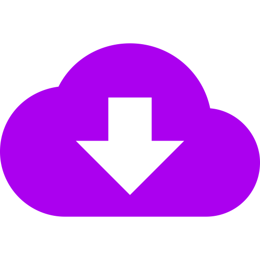 Symbole de nuage violet (icône png)