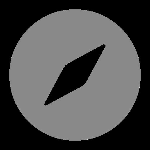 Symbole Safari (icône du logo png) gris