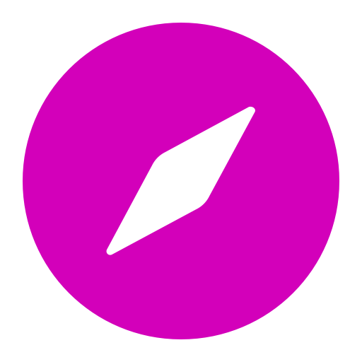 Symbole Safari (icône du logo png) rose