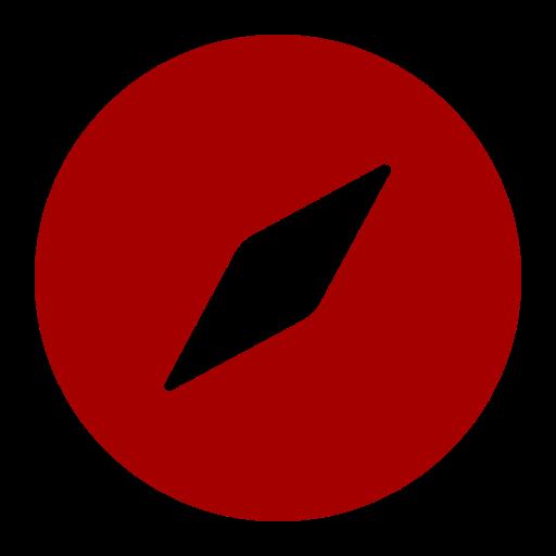 Symbole Safari (icône du logo png) rouge