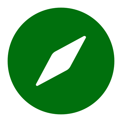 Symbole Safari (icône du logo png) vert