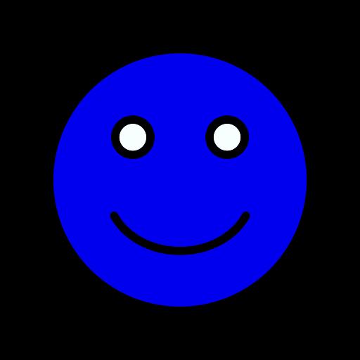 Symbole de smiley bleu (icône png)