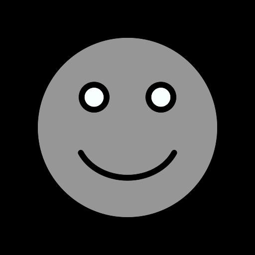 Symbole de sourire (icône png) gris