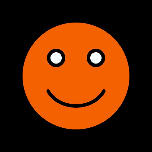 Symbole de sourire orange (icône png)