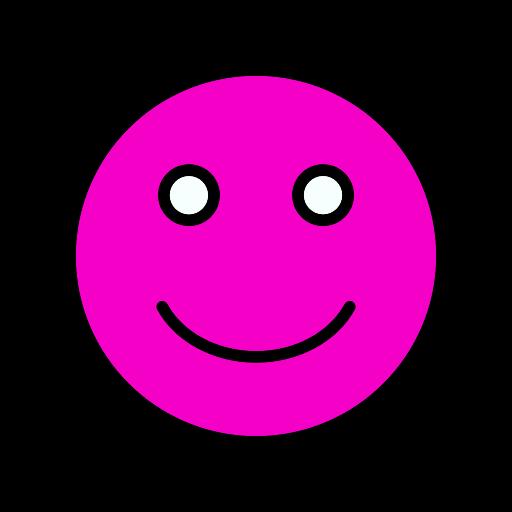 Symbole de sourire (icône png) rose