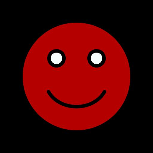 Symbole de sourire rouge (icône png)