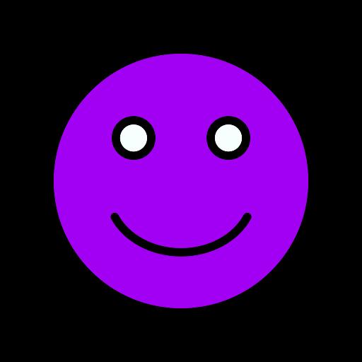 Symbole de sourire (icône png) violet