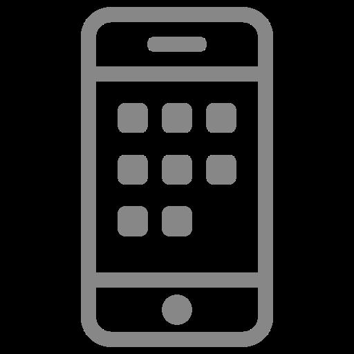 Symbole de téléphone portable (icône png) gris
