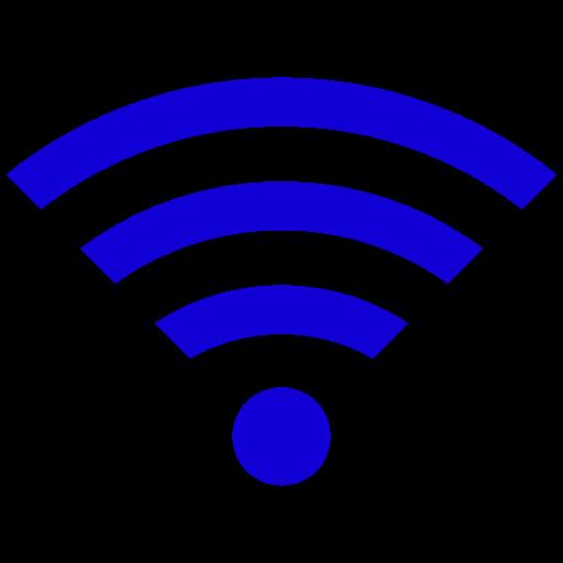Symbole Wifi (icône png) bleu
