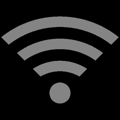 Symbole Wifi gris (icône png)