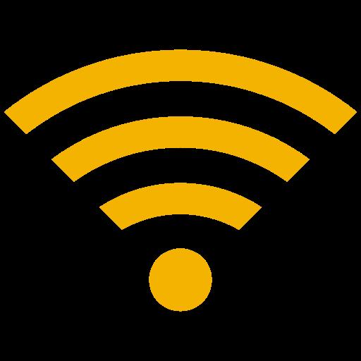 Symbole Wifi jaune (icône png)