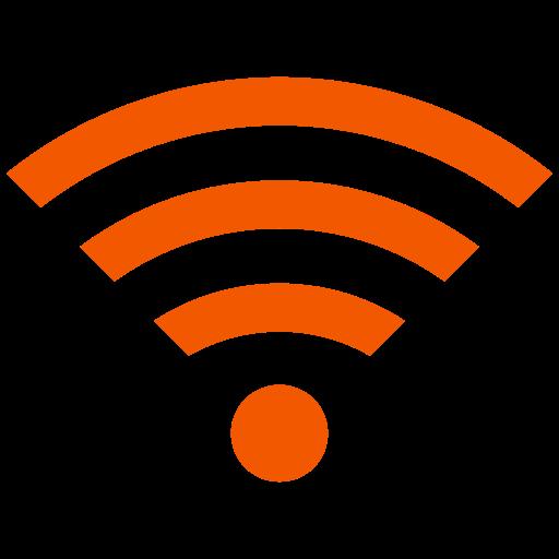 Symbole Wifi orange (icône png)