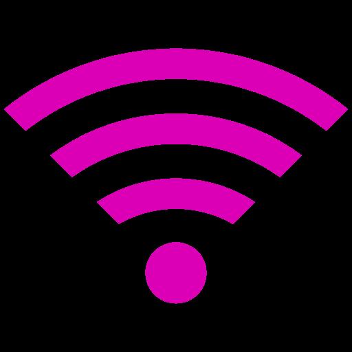 Symbole Wifi (icône png) rose