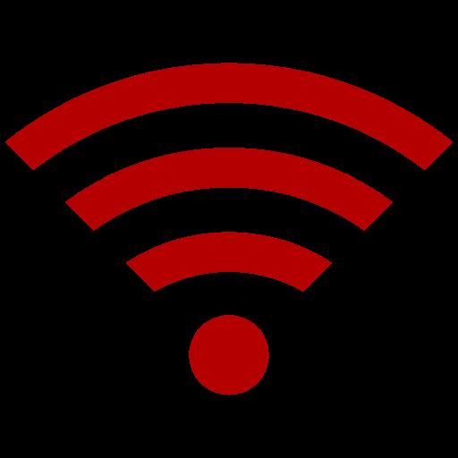 Symbole Wifi (icône png) rouge