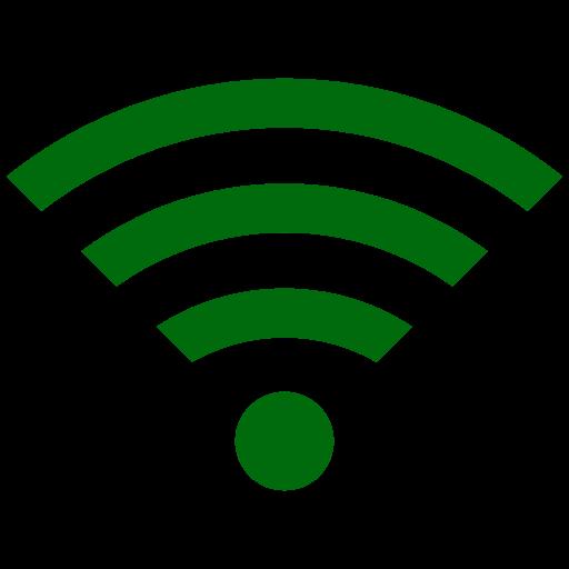 Symbole Wifi vert (icône png)