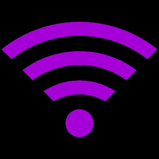 Symbole Wifi violet (icône png)