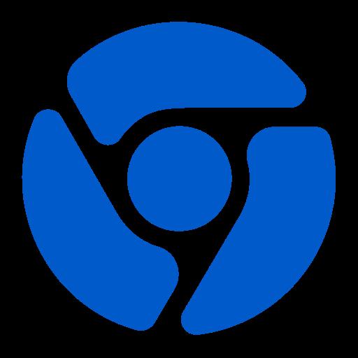 Icône Chrome (symbole png) bleu