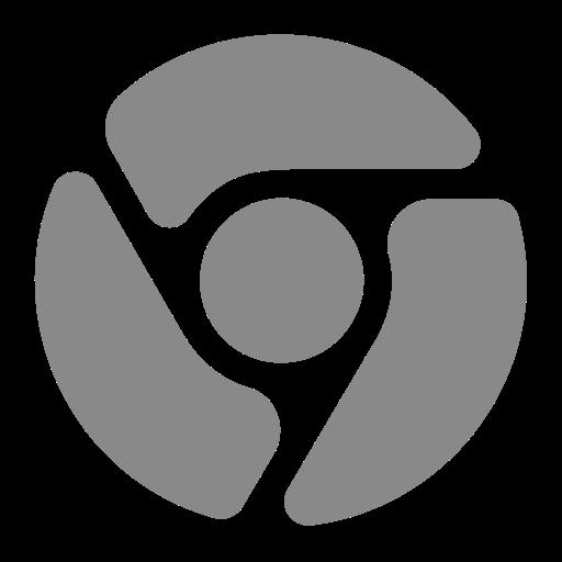 Icône Chrome (symbole png) grise