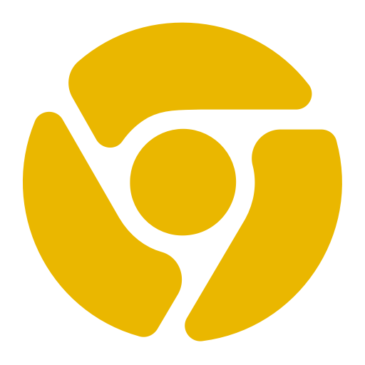 Icône Chrome (symbole png) jaune